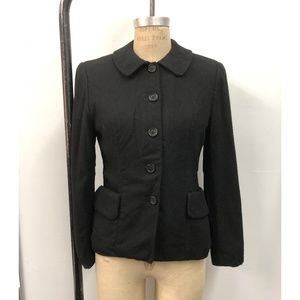 Black Short-waisted Coat